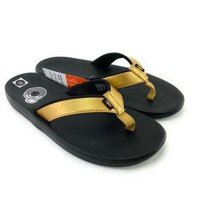 Nike Women's Bella Kai Thong Metallic Gold Sandals